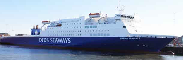 DFDS ship with new name and fresh paint
