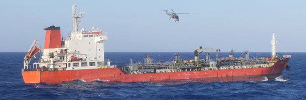 Tanker bordet for embargo-brud